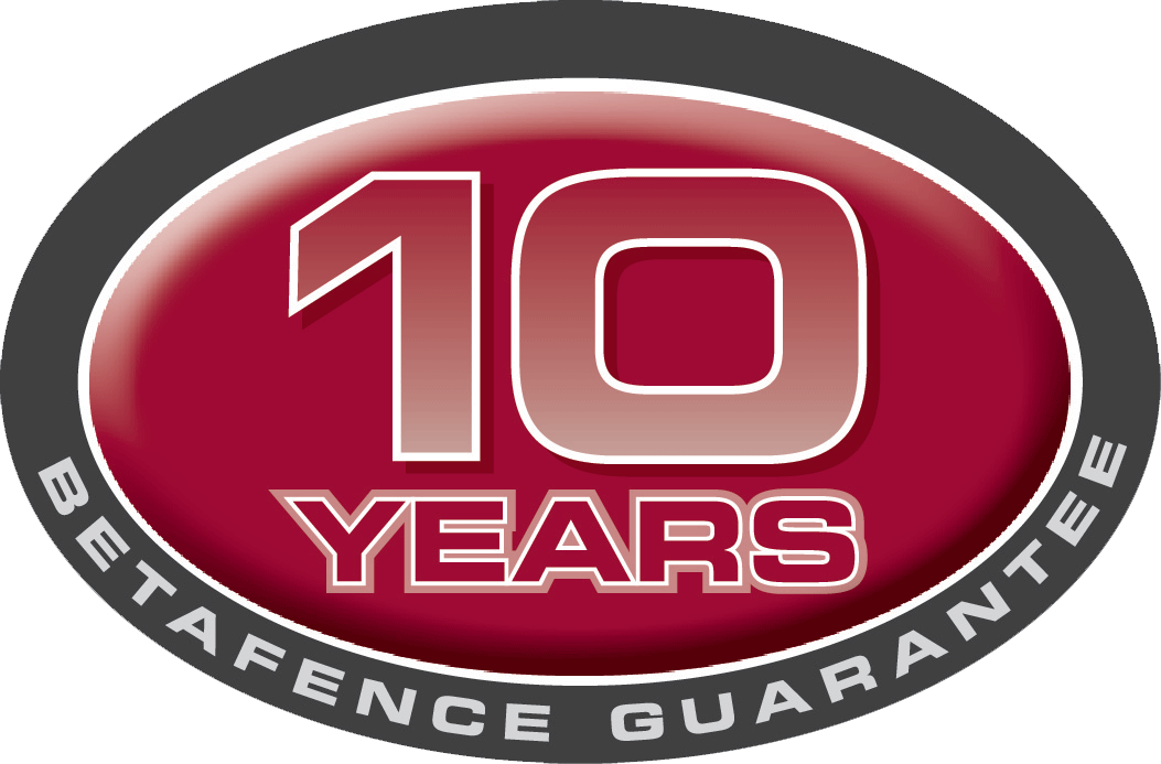 Betafence guarantee 10 years