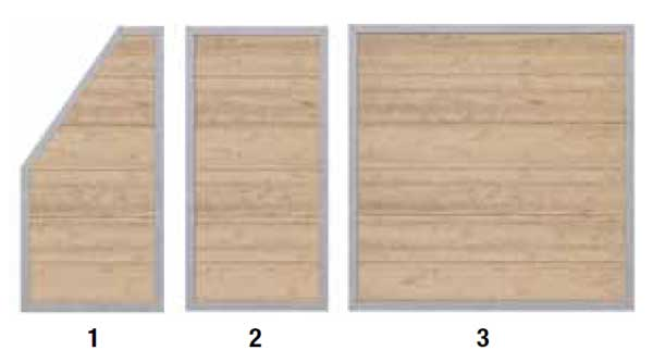 HoriZen Alu Panels sizes