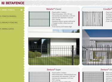 Chose your fence with Betafence application