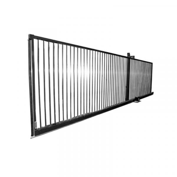 Portail coulissant sur rails robusta sr betafence - Rail de portail coulissant ...